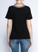 Black H-line Short Sleeve Printed T-Shirt