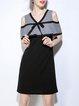 Black Elegant Cold Shoulder Mini Dress