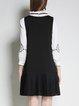 Black Appliqued Sleeveless Mini Dress