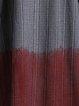 Gray Color-block Lapel Shift Long Sleeve Coat