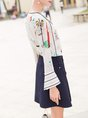 Multicolor Printed Long Sleeve Blouse