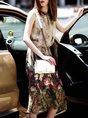 Multicolor Asymmetrical Daytime Sleeveless Printed Floral Midi Dress