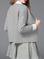 Pockets Simple Crew Neck Knitted Long Sleeve Cardigan