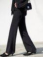 Easy Matching Solid Work Summer Wide Leg Pants