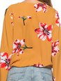 Yellow Daytime Floral Printed Blouse