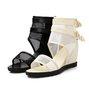 Zipper Mesh Daily Wedge Heel Summer Sandals