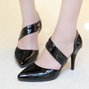 Sexy PU Hollow-out Stiletto Heels
