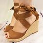 Espadrilles Bowknot Peep Toe Summer Wedge Sandals