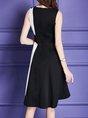 Midi Dress Party Sleeveless Embroidered Dress