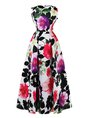 Ball Gown Prom Elegant Sleeveless Printed Party Maxi Dress