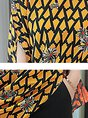 Asymmetric Short Sleeve Printed Casual Two Piece Outfits