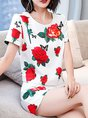 Short Sleeve Casual Floral top with pants