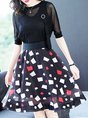 Two Piece Casual Printed top with skirt