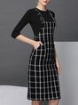 Black Work Half Sleeve Cotton dress with top