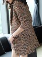 Multicolor Long Sleeve Printed Lapel coat with pants
