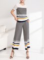 Multicolor Shift Short Sleeve top with pants