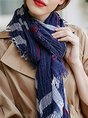 Striped Holiday Casual Scarf