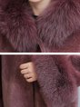 Casual Buttoned Hoodie Winter Fur and Shearling Coat