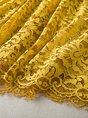 V neck Yellow  Going out Sweet 3/4 Sleeve Paneled  Mini Dress