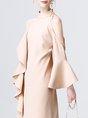 Pink Shift Vintage Cocktail Statement Midi Dress