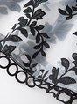 Sleeveless Paneled Leaf Evening Midi Dress