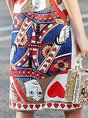 Multicolor  Daytime Short Sleeve Elegant Printed Graphic Midi Dress