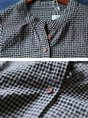 Long Sleeve Pockets Casual Checkered/Plaid Top