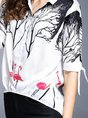 Floral Half Sleeve Casual Blouse