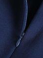 Turtleneck Flounce Casual 3/4 Sleeve Piping Statement Long Sleeve Midi Dress