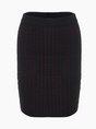 Black Blend Casual Plain Mini Skirt