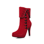 Ladies Suede Spring/Fall Button Boots