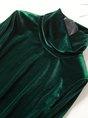 Velvet Turtleneck Long Sleeve Solid Casual Top