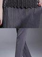 Pleated Pockets Casual Straight Leg Pants