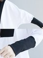 White Turtle Neck Color-Block Paneled Tops