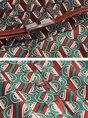 A-line Date Elegant 3/4 Sleeve Printed Geometric Red Midi Dress