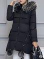 Hoodie Zipper Winter Down Coat