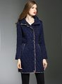 Hoodie Zipper Buttoned Shift Long Sleeve Down Coats