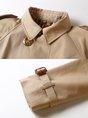 Khaki Shift Lapel Slit Work Trench Coats