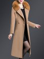 Paneled Buttoned Solid Shift Elegant Coats
