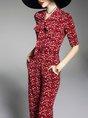 Casual Printed Tie-Neck Flora Jumpsuit