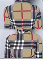 Light Khaki Turtle Neck Checkered/plaid Shift Tops