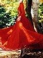 Stand Collar Red Elegant Guipure Lace Wedding Cocktail Maxi Dress