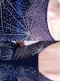 Dark Blue Prom See-Through Evening Mini Dress