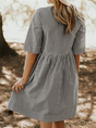 Crew Neck Women Summer Dresses A-Line Daily Dress