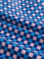Shimmer A-Line Checkered/plaid Blue Printed Elegant Two-Piece Set