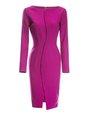 Bateau/boat Neck Wool Bodycon Date Elegant Slit Midi Dress