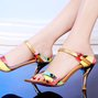 Sexy Color Block Open Toe Sandals