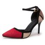 Panel Suede Color Block Stiletto Heel Heels