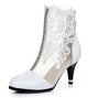 Stitching Lace Mesh Stiletto Heel Sexy Boots