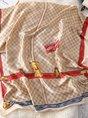 Elegant Checkered/plaid Scarves